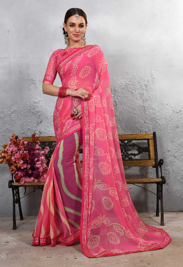 WOMEN SAREE WITH BLOUSE-D NO 103-DF LAJWANTI 01 2019