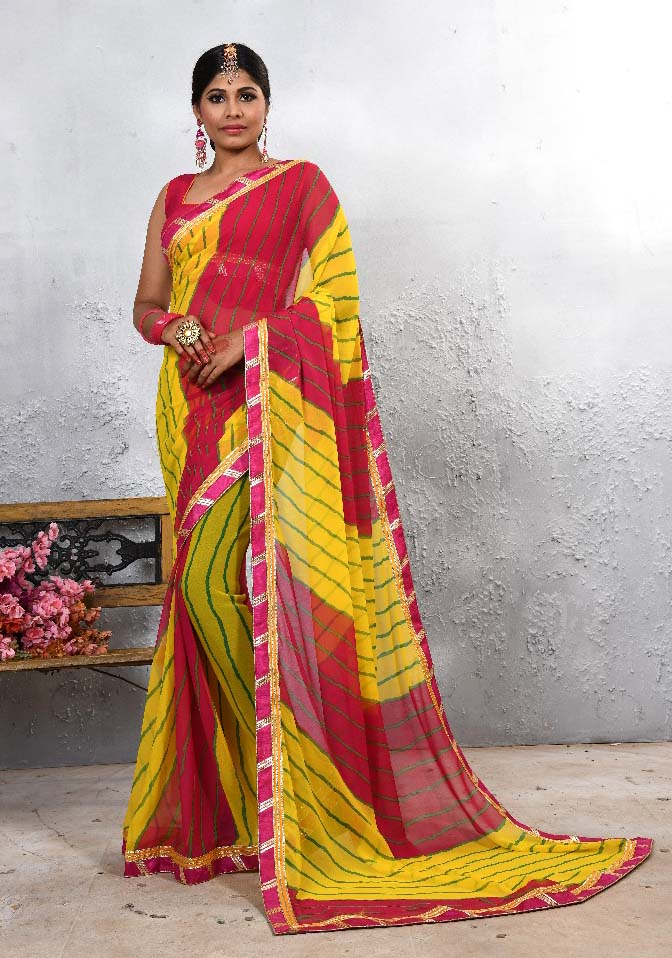 WOMEN SAREE WITH BLOUSE-D NO 104-DF LAJWANTI 01 2019
