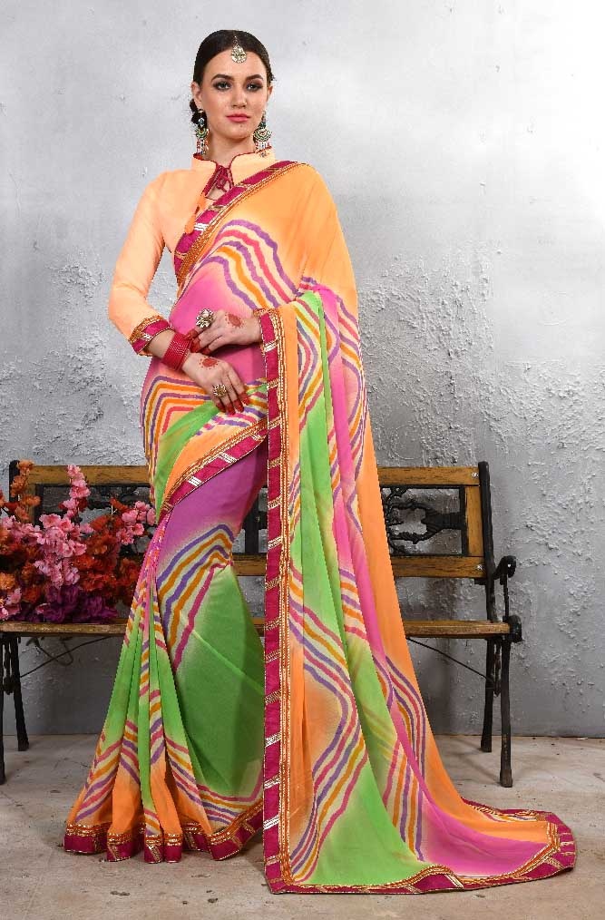 WOMEN SAREE WITH BLOUSE-D NO 106-DF LAJWANTI 01 2019