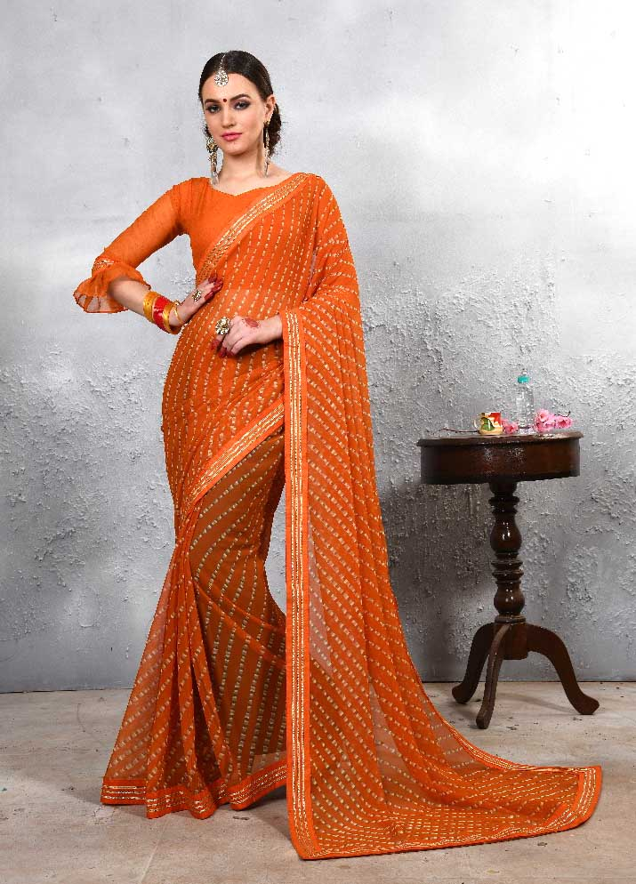 WOMEN SAREE WITH BLOUSE-D NO 111-DF LAJWANTI 01 2019