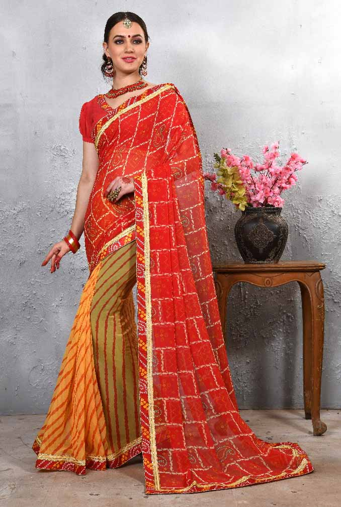 WOMEN SAREE WITH BLOUSE-D NO 112-DF LAJWANTI 01 2019