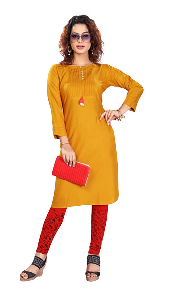 SC MAYA 01-D NO 9 STYLISH RAYON KURTI WITH CORDINATED LEGGING
