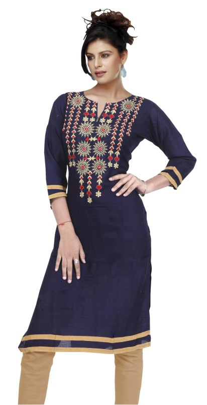 MCA DOVE 3 - 1001 Navy Stitched Kurti