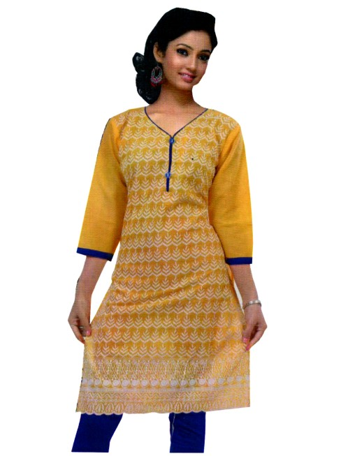 MCA MAMTA 2 - 1001 Yellow Stitched Kurti