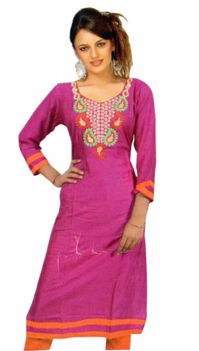 MCA MEGHA 5 - 1005 Purple Stiched Kurti