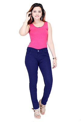 VA WDJ 03-MID BLUE-WOMEN DENIM JEANS