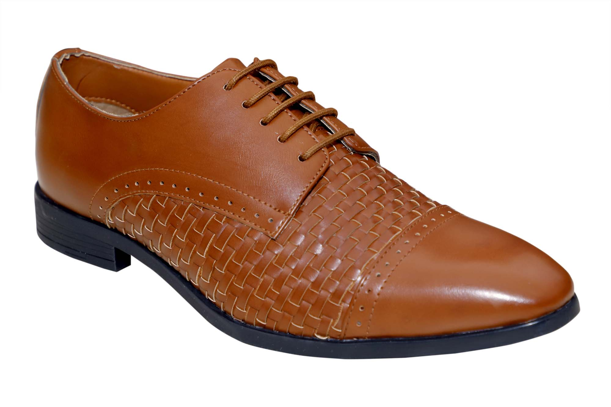 FORMAL033-TAN MEN'S FORMAL SHOES
