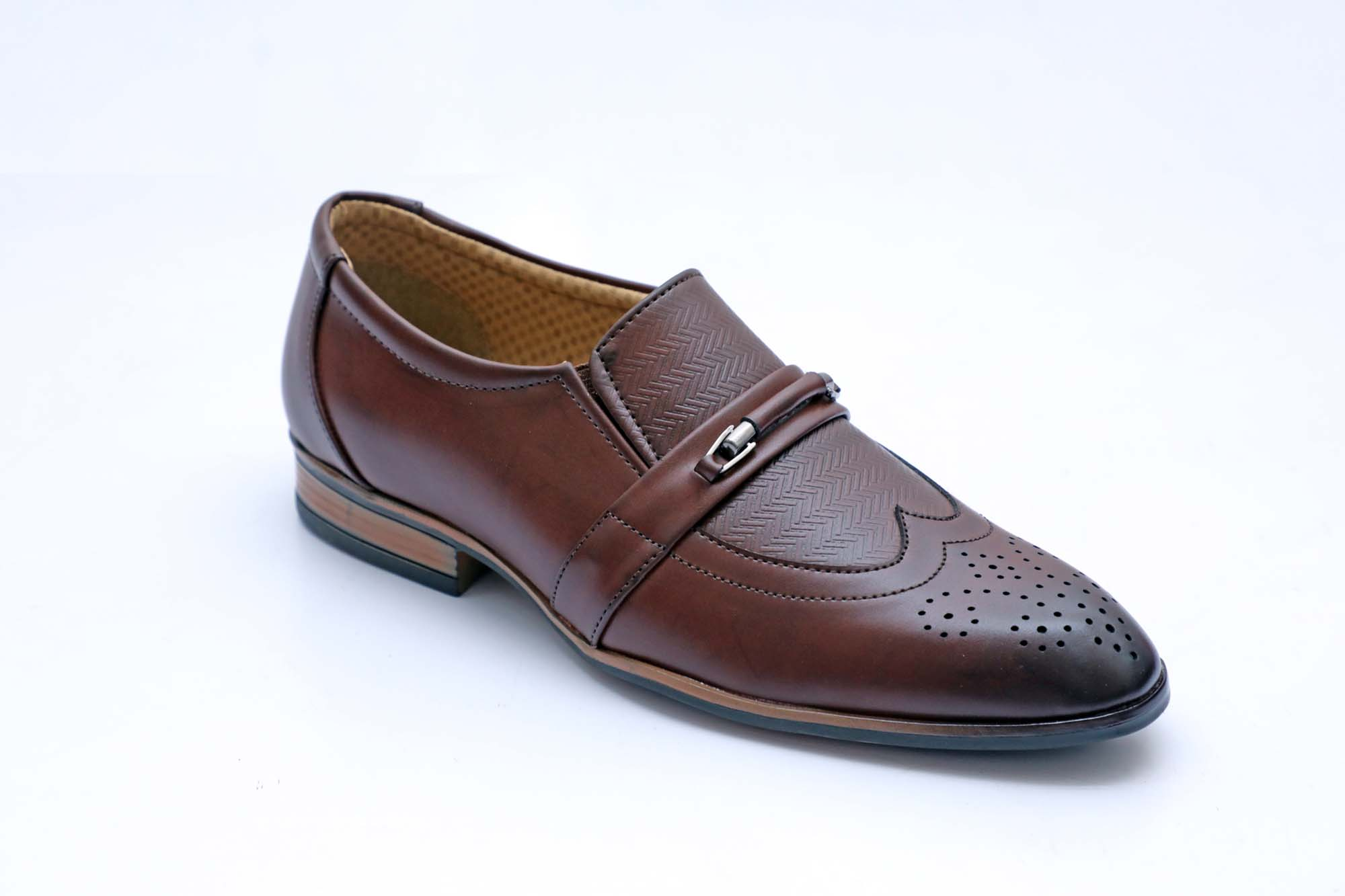 FORMAL040-BROWN MEN'S FORMAL SHOES