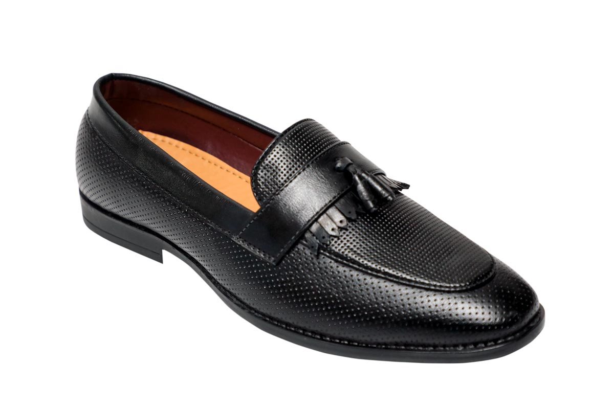 FORMAL042-BLACK MEN'S FORMAL SHOES