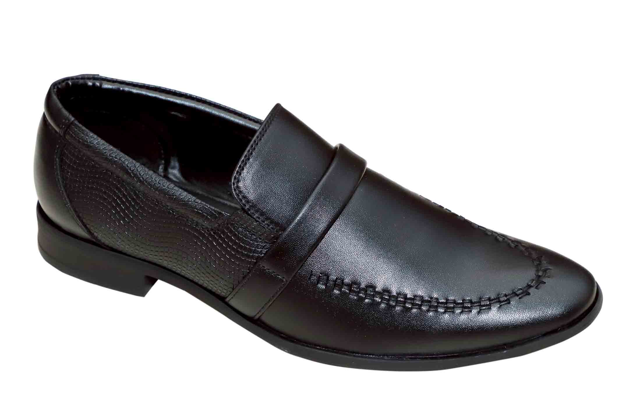 FORMAL037-BLACK MEN'S FORMAL SHOES