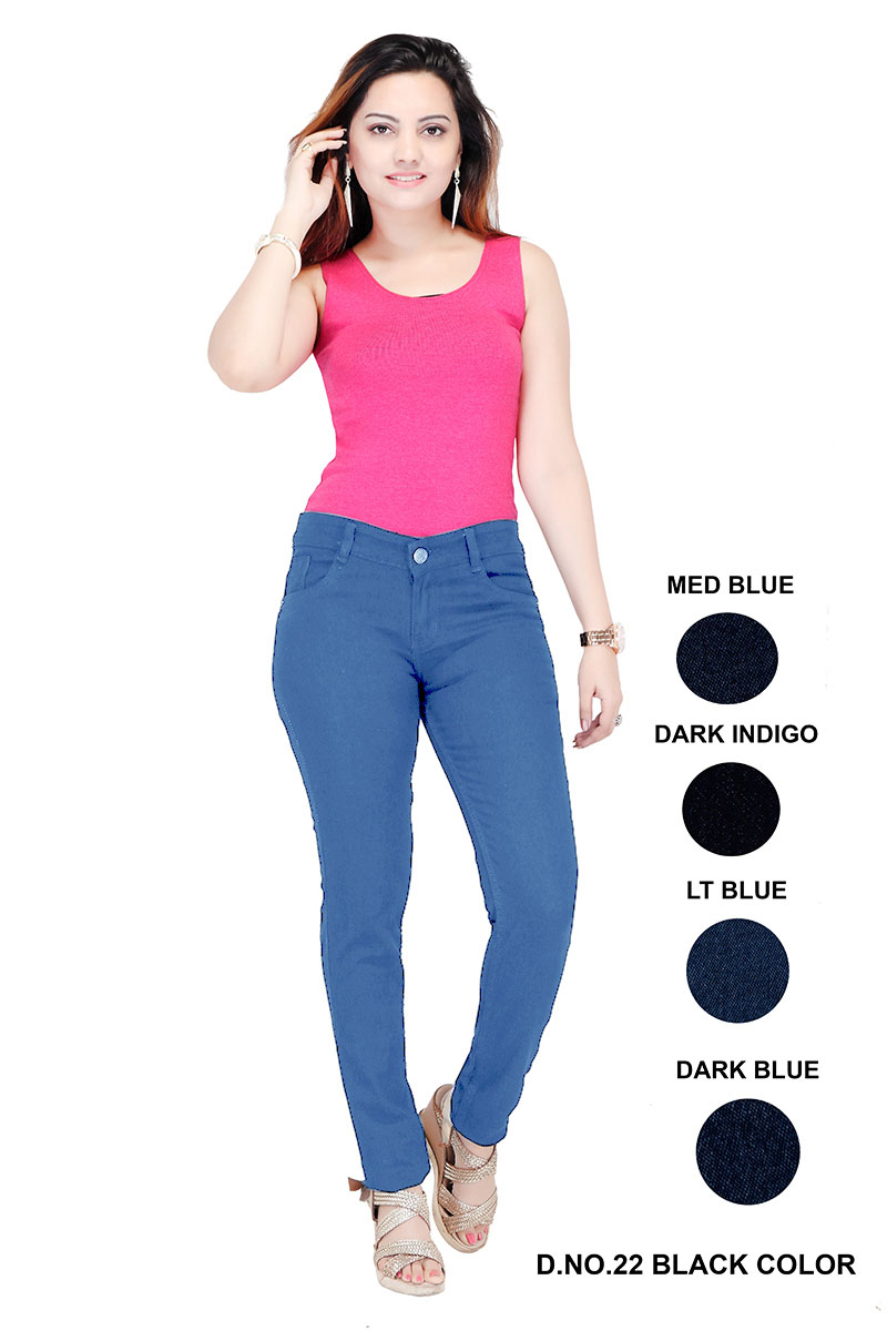 VA WDJ 04-MID BLUE-WOMEN DENIM JEANS