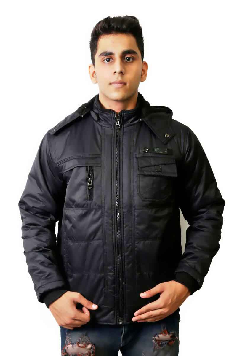 MI8 01 - Black Winter's Hood Jacket