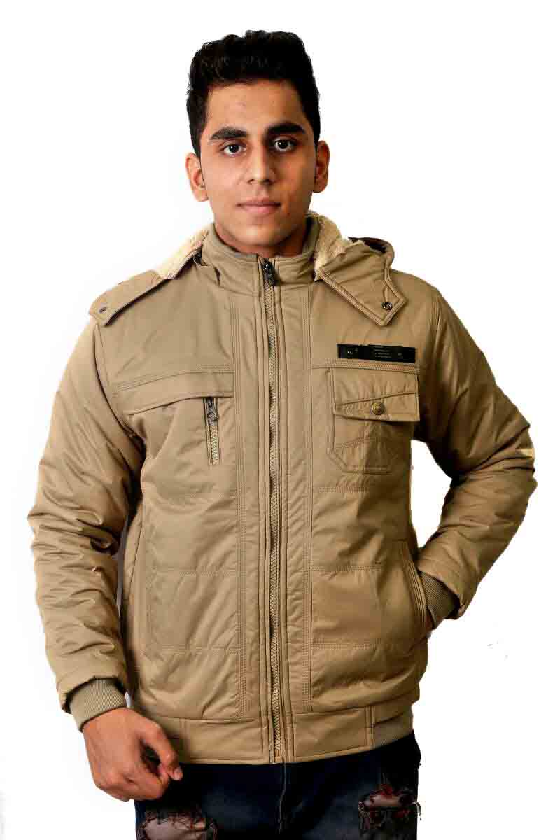 MI8 01 - Light Camel Winter's Hood Jacket