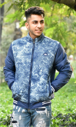 MJK MI8 04-NAVY REVERSIBLE WINTER JACKET