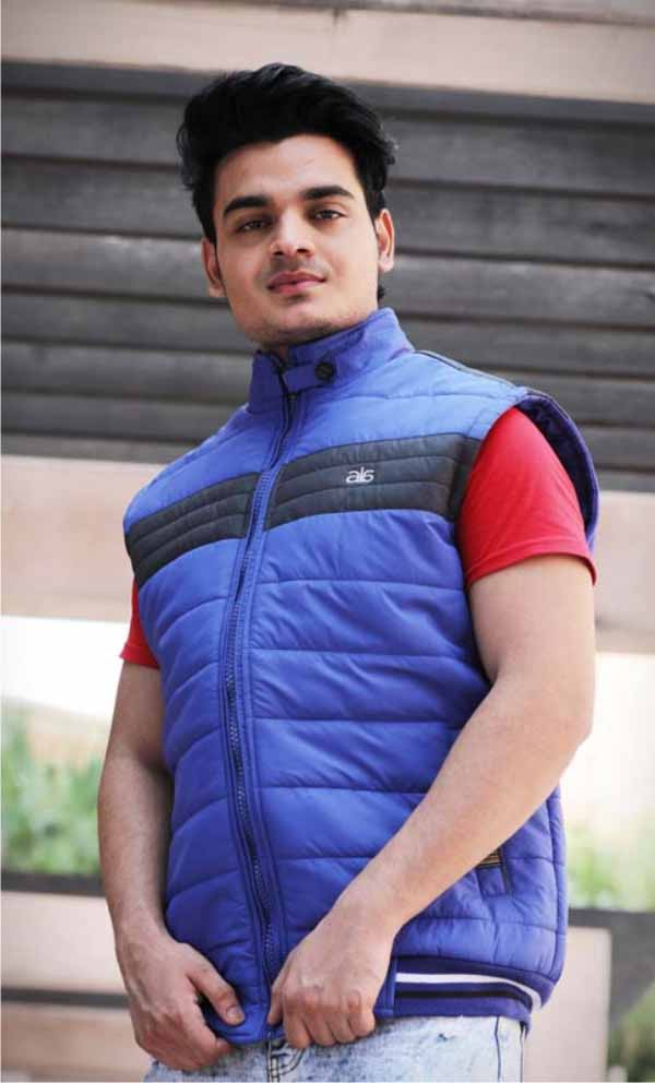 MSJK MI5 01-ROYAL BLUE SLEEVELESS WINTER JACKET