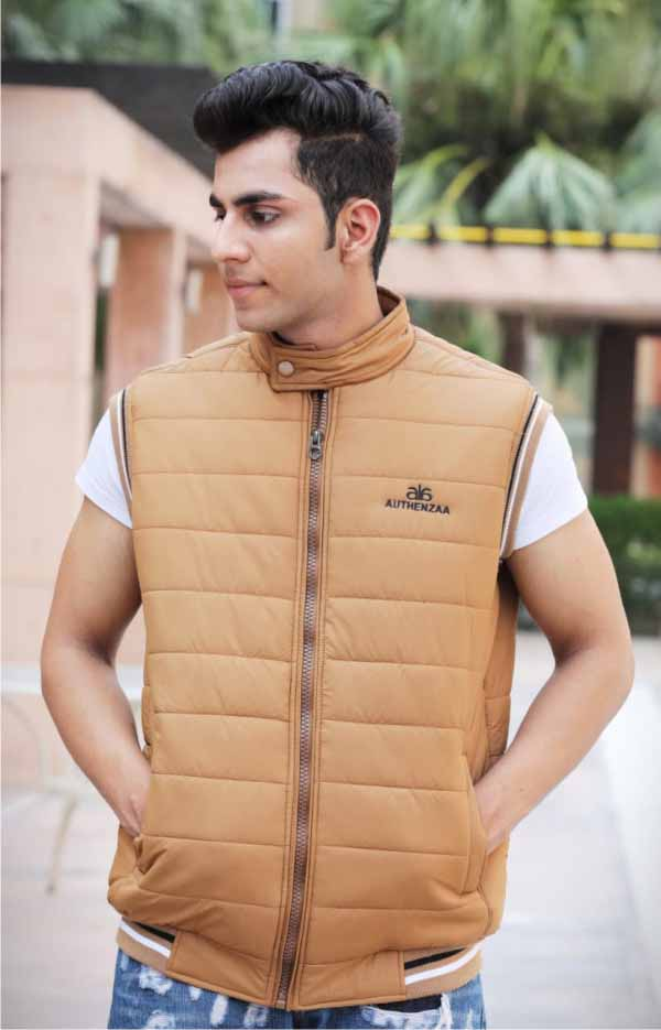 MSJK MI5 02-L CAMEL SLEEVELESS WINTER JACKET