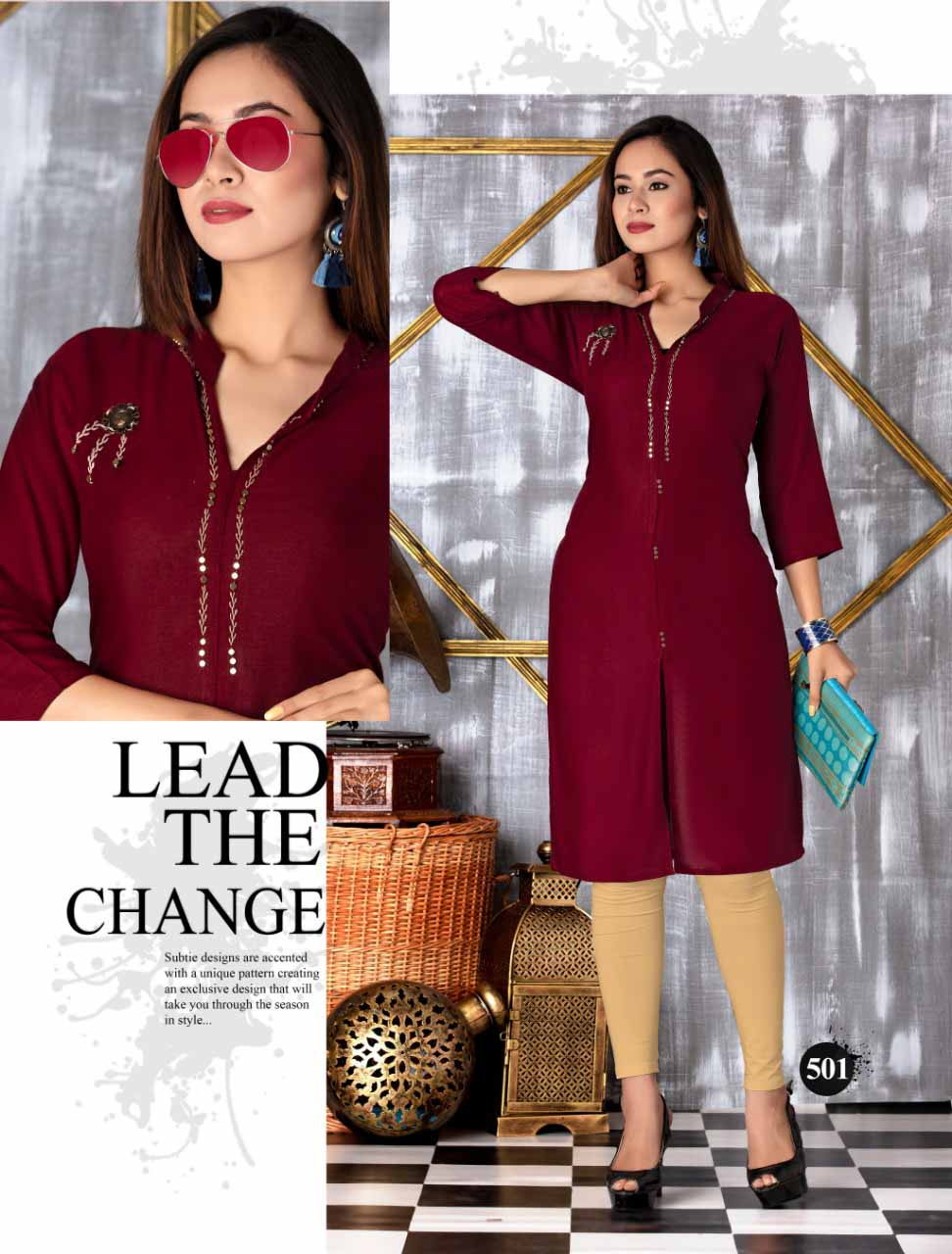 SMC SEP MONI 2019-D NO 501 WOMEN KURTI