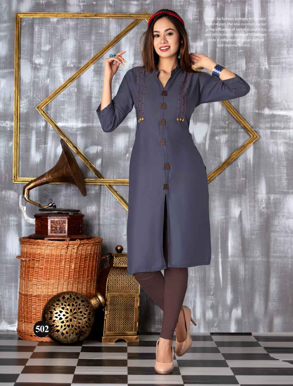 SMC SEP MONI 2019-D NO 502 WOMEN KURTI