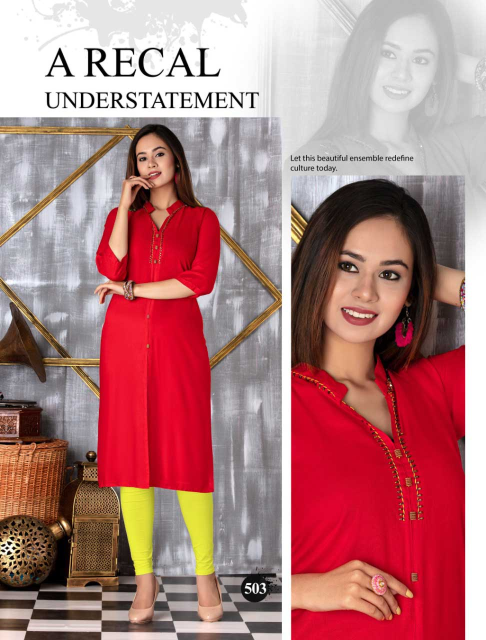 SMC SEP MONI 2019-D NO 503 WOMEN KURTI