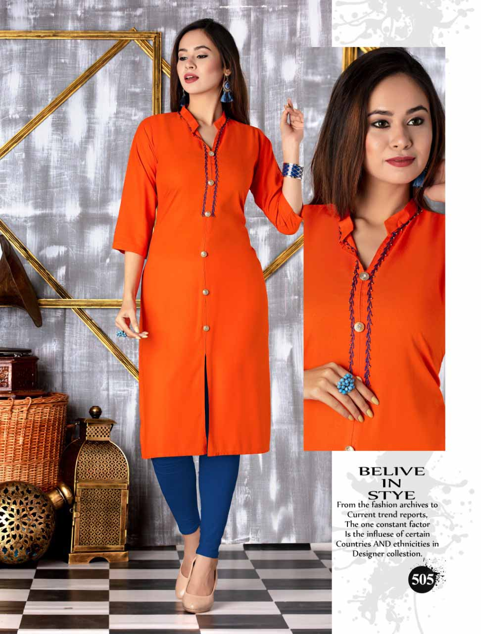 SMC SEP MONI 2019-D NO 505 WOMEN KURTI