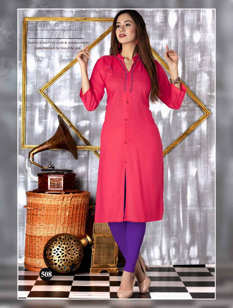 SMC SEP MONI 2019-D NO 508 WOMEN KURTI
