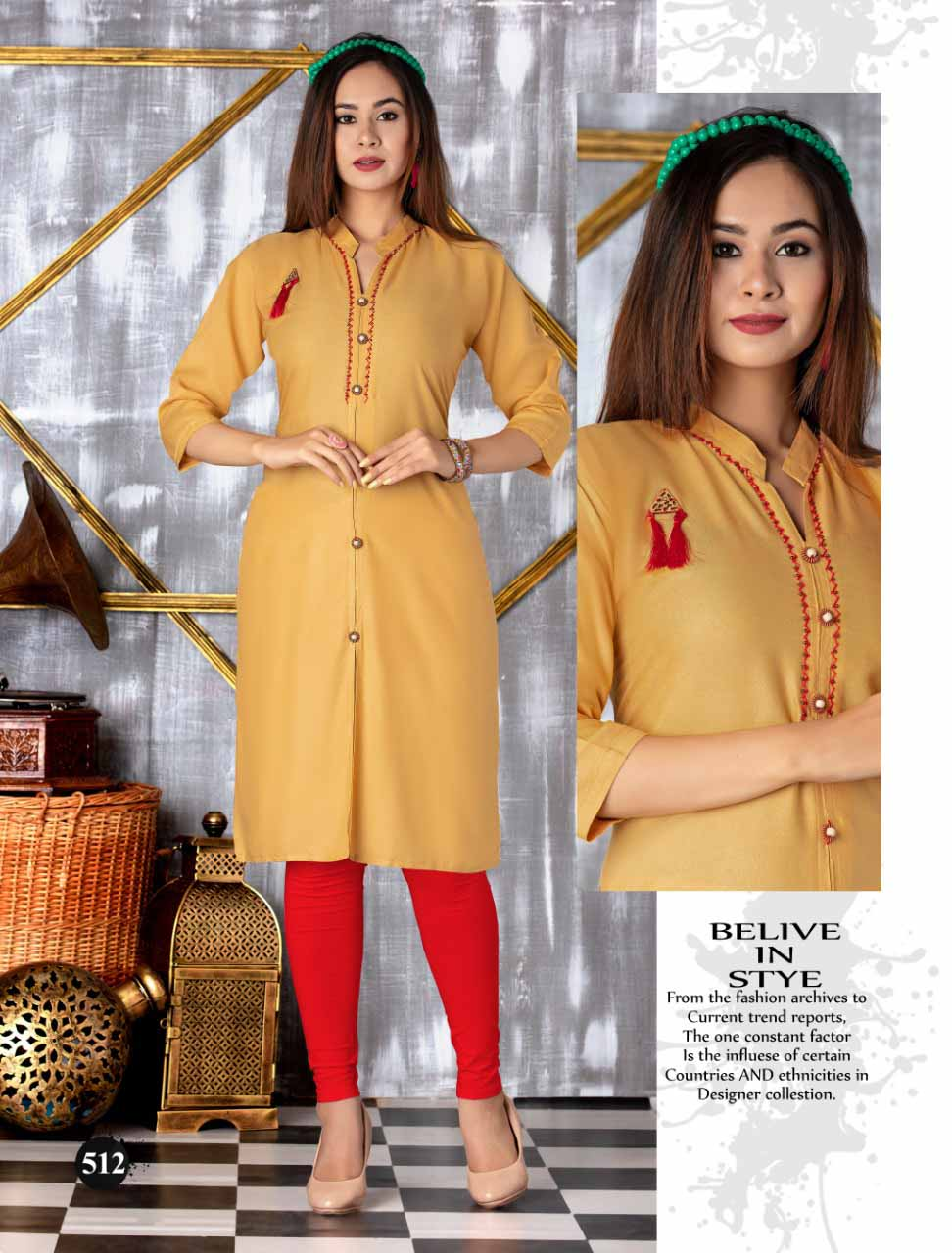 SMC SEP MONI 2019-D NO 512 WOMEN KURTI