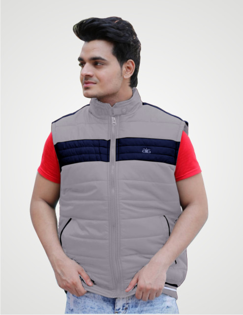 MSJK MI5 01-GRAY SLEEVELESS WINTER JACKET