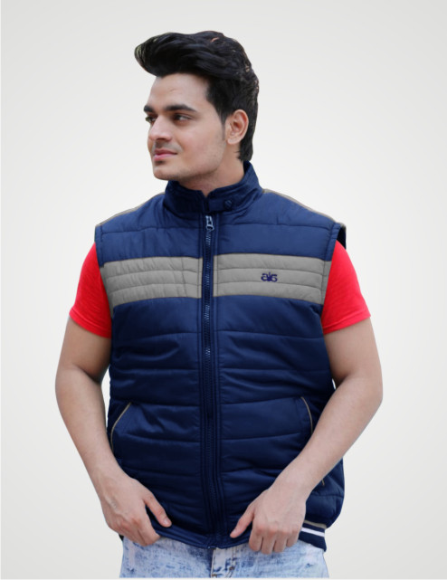MSJK MI5 01-NAVY SLEEVELESS WINTER JACKET