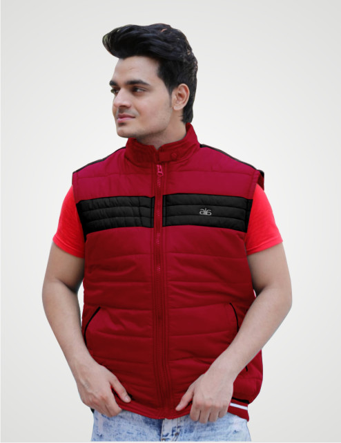 MSJK MI5 01-RED SLEEVELESS WINTER JACKET