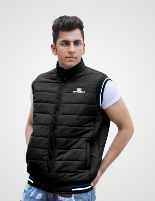 MSJK MI5 02-BLACK SLEEVELESS WINTER JACKET