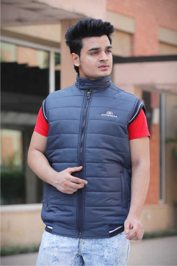 MSJK MI5 02-NAVY SLEEVELESS WINTER JACKET