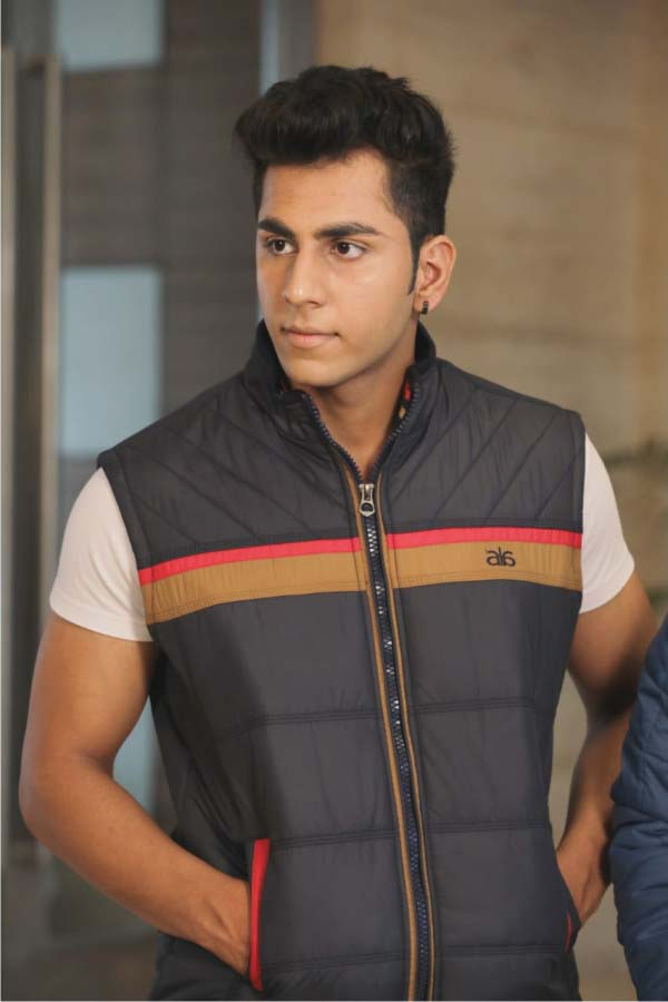 MSJK MI5 03-NAVY SLEEVELESS WINTER JACKET