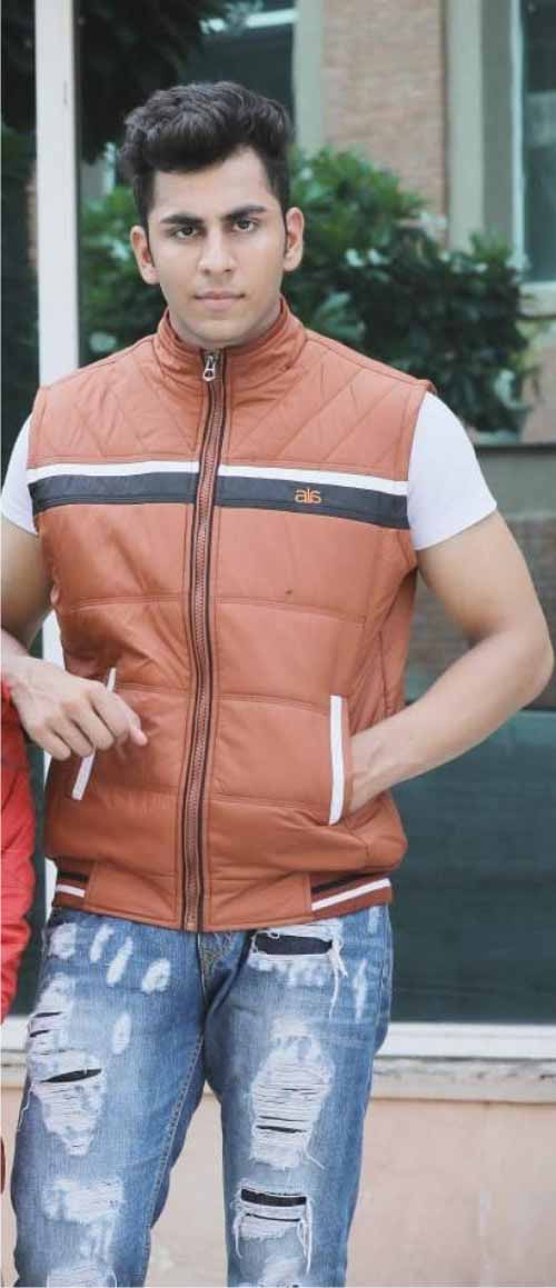 MSJK MI5 03-TAN SLEEVELESS WINTER JACKET