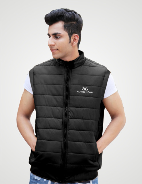 MSJK MI5 04-BLACK SLEEVELESS WINTER JACKET