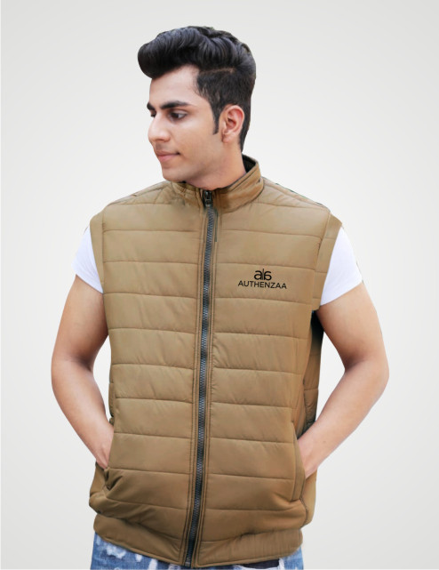 MSJK MI5 04-CAMEL SLEEVELESS WINTER JACKET