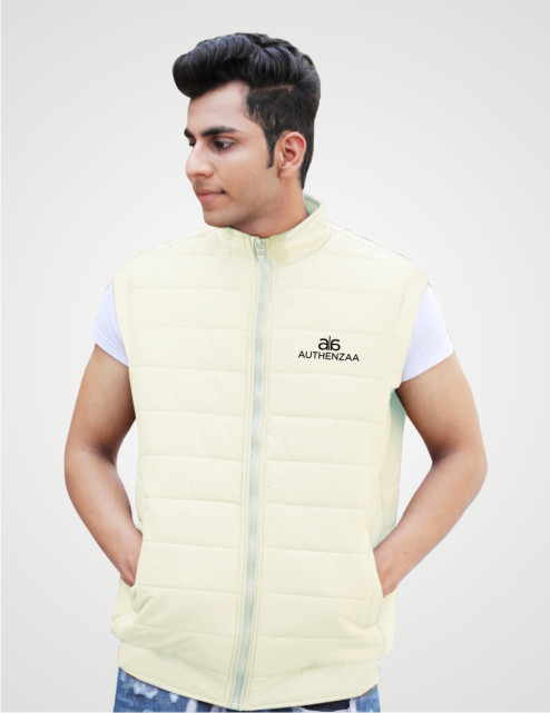 MSJK MI5 04-D.WHITE SLEEVELESS WINTER JACKET