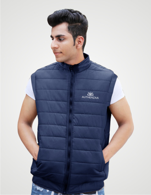 MSJK MI5 04-NAVY SLEEVELESS WINTER JACKET