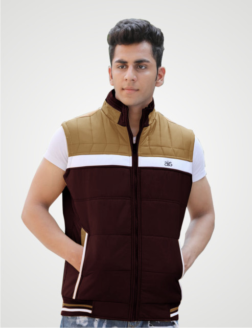 MSJK MI5 05-COFFEE SLEEVELESS WINTER JACKET