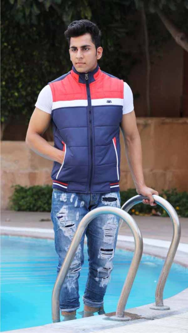 MSJK MI5 05-NAVY SLEEVELESS WINTER JACKET