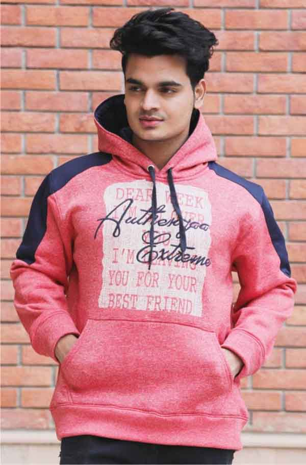 SWEAT SHIRT-Red-MSS DW 32
