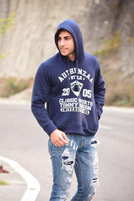 SWEAT SHIRT-Navy-MSS DW 34
