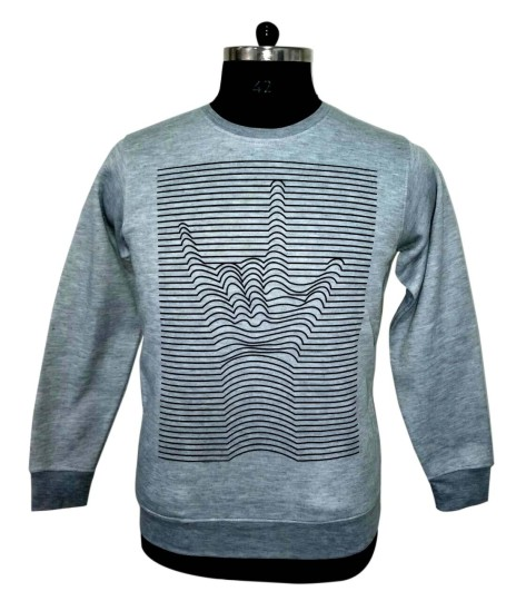 MSS DW0016 - Gray Melange  Sweat Shirt