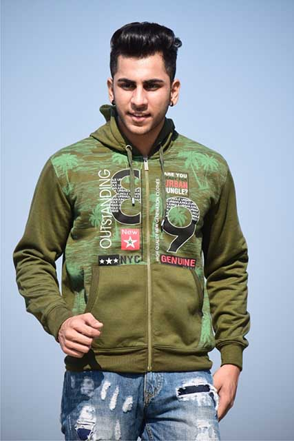 SWEAT SHIRT-OLIVE-MSS VM 11