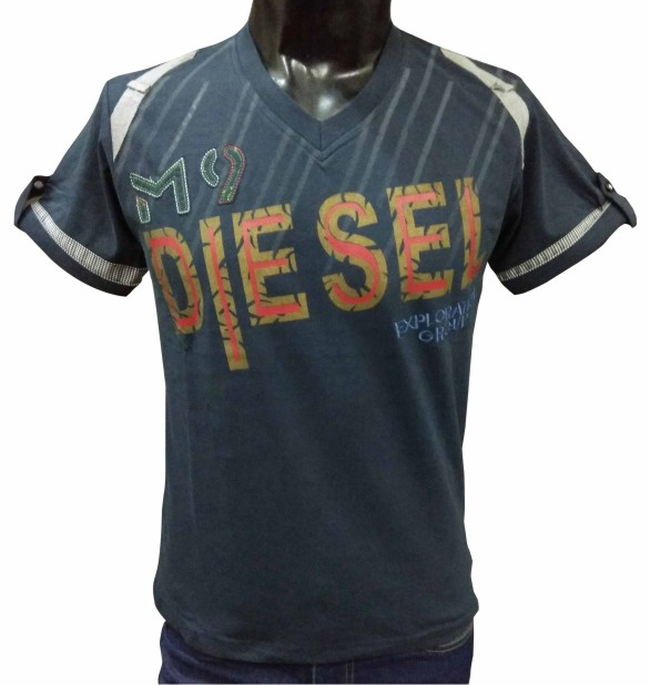 MT DIESEL - Navy V-neck T-shirt