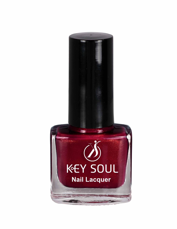 Keysoul Maroon Shimmer Nail Paint