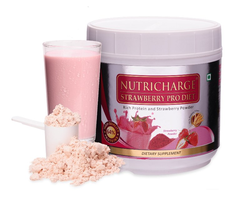 Nutricharge Strawberry Prodiet(500g)