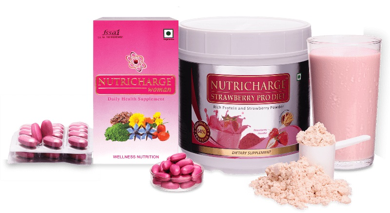 Nutricharge Woman Combo (Nutricharge Woman + Nutricharge Strawberry ProDiet)