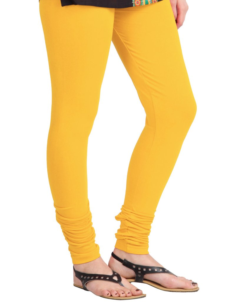 WL OLIVIA 01-YELLOW PLAIN LEGGING