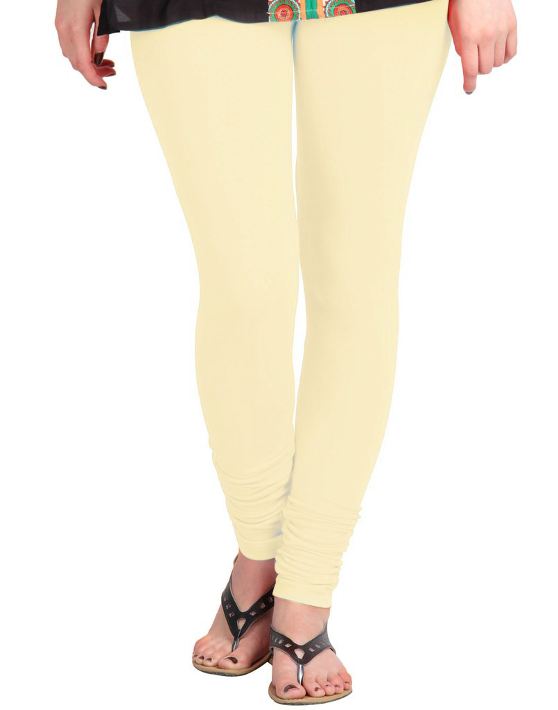 WL OLIVIA 01-CREAM PLAIN LEGGING