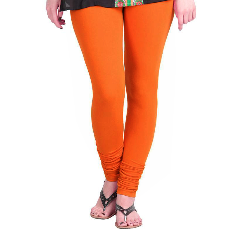 WL OLIVIA 01-ORANGE PLAIN LEGGING